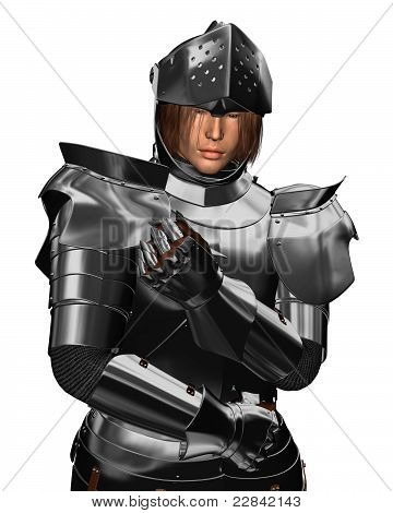Retrato de cavaleiro Medieval do século XV