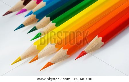 Crayons In Slopping.