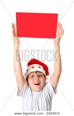 Child With Christmas Message