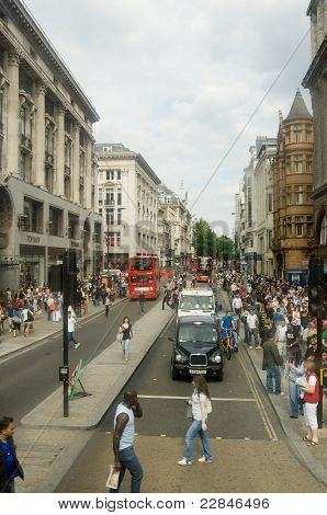 Oxford Street shoppers, London