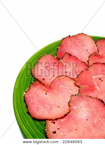 Thin slices of roast beef