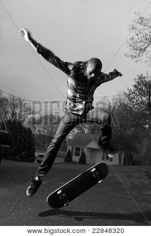 Skateboarder Doing Tricks