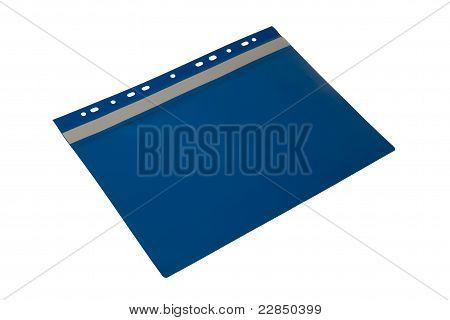 Blue folder with perforation