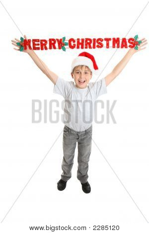 Christmas Child With Joyful Message