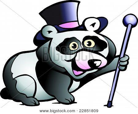 Handgezeichnete Vektor-Illustration ein Panda-Bären