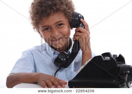 Boy on the telephone