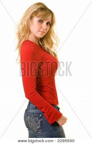Lady In Red Top