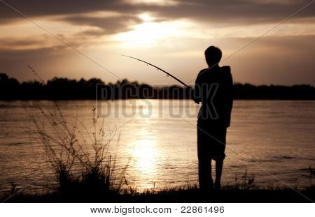 The Fisherman At Sunset
