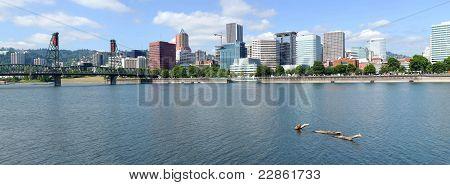 Portland Oregon City Panorama.