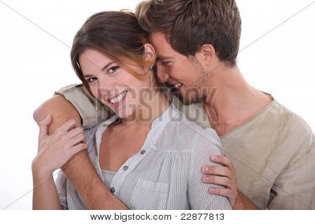 young couple of lovers laughing