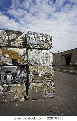 Stacked Crushed Metal