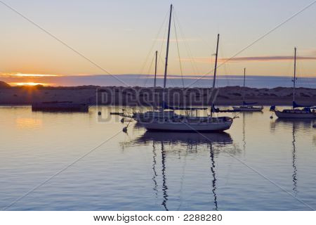 Morro Bay Harbor Sunset
