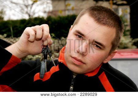 Teenager With Car Keys