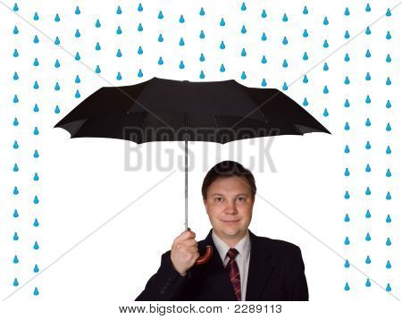Men And Umbrella