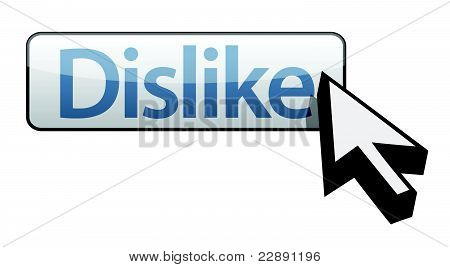 web button Dislike. Isolated on white background.