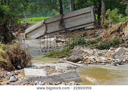 Bridge After Flood