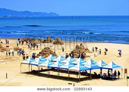 Visit The Sand Sculpture On Beach