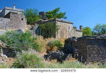 Historical Houses At Behramkale  / Assos - Turkey