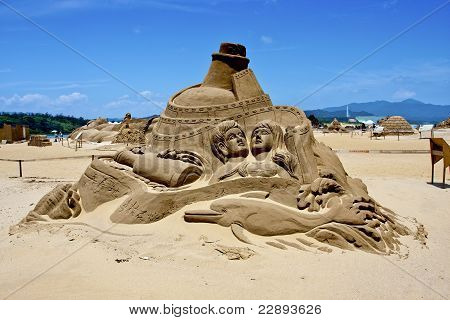 A Festive Sand Sculpture Show In Fulong, Taiwan,may 31