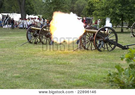 Authenic Civil War Canon Fires