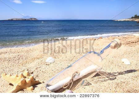 Bottle Washed Up On The Beach