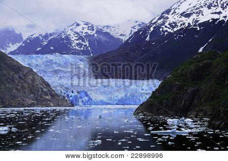 Sawyer Glacier At Tracy Arm Fjord