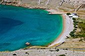 image of luka  - Hidden pebbles and sand beach in Vela Luka Island pf Krk Croatia