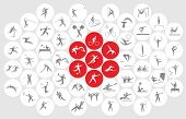 New Sports Icons And Sports Symbols, The Flag Of Japan poster
