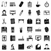 Постер, плакат: Office Facilities Icons Set Simple Set Of 36 Office Facilities Vector Icons For Web Isolated On Whi