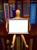 Manikin With Frame /C poster