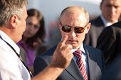 MOSCOW, RUSSIA, AUGUST,17: Vladimir Putin, Russian Prime Minister  at the International Aviation and