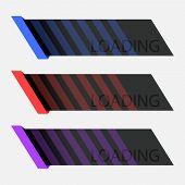 Information Loading Line. Interface Loading Elements. Color Strips Loading. poster
