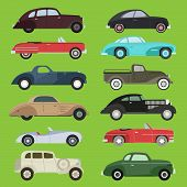 Old Vintage Retro Vector Old Style Car Vehicle Automobile Exclusive Sport Transport Antique Garage C poster