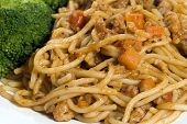 Spaghetti Bolognese With Broccoli poster