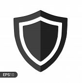 Abstract Security Vector Icon Illustration Isolated On White Background. Shield Security Icon. Lock  poster