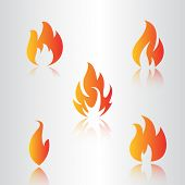 Collection  Fire Icons, Vector Fire, Fire Icon Eps10. Fire Icon Flat, Fire Icon App poster