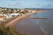 Dawlish Devon England Uk English Coast Town With Beach Railway Train And Sea poster
