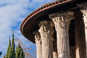 Detail Of The Ancient Round Temple Of Hercules Victor, The Ancient Surviving Marble Building In Rome poster