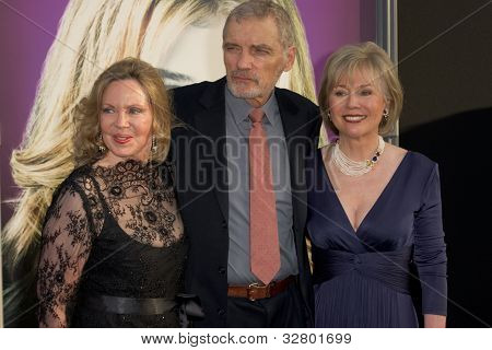 HOLLYWOOD, CA - MAY 7: Lara Parker, David Selby and Kathryn Leigh Scott arrive at the premiere of the Warner Bros. Pictures Dark Shadows on May 7, 2012 in Hollywood, California.