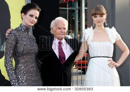LOS ANGELES - MAY 7:  Eva Green, Richard D. Zanuck, Bella Heathcote arrives at the