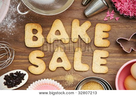Bake sale cookies