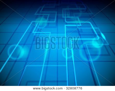 Abstract blue background with network signals having shiny effect and copy space. EPS 10, vector illustration.