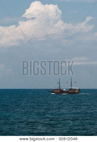 Pirate Ship In The Sea