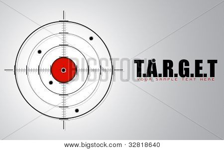 illustration of crosshair sign showing target concept