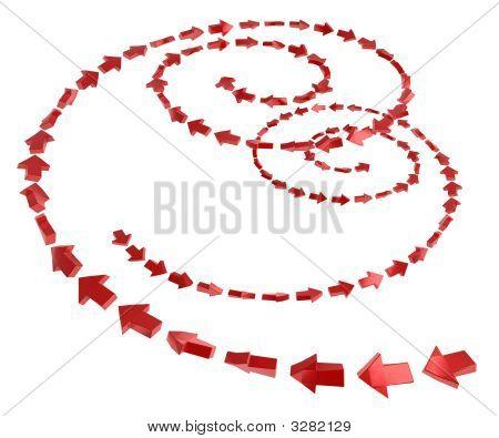 2 Way Arrow Spirals