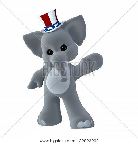 Gop Political Elephant Waving