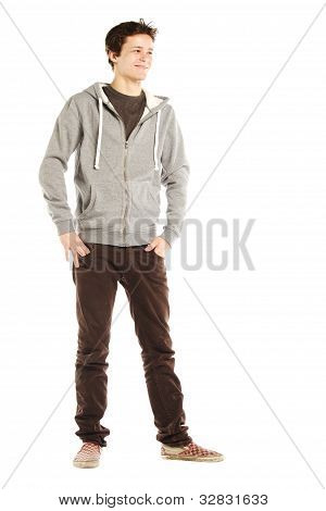 Young Handsome Happy Man With Hip Style