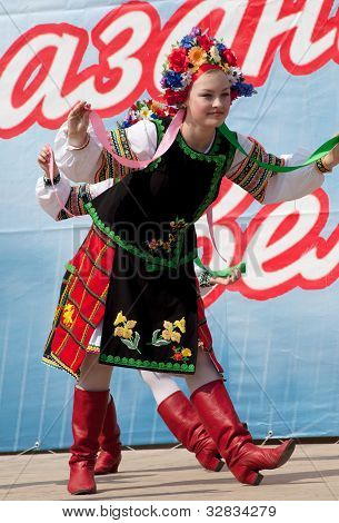 Girl In National Russian Costume