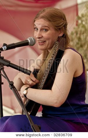 Rosa Rebecka, The Swedish Singer Song Writer, Performing At The Exeter Respect Festival 2011.