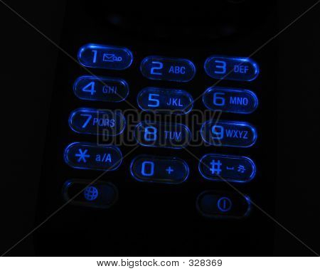 Glowing Phone Keypad